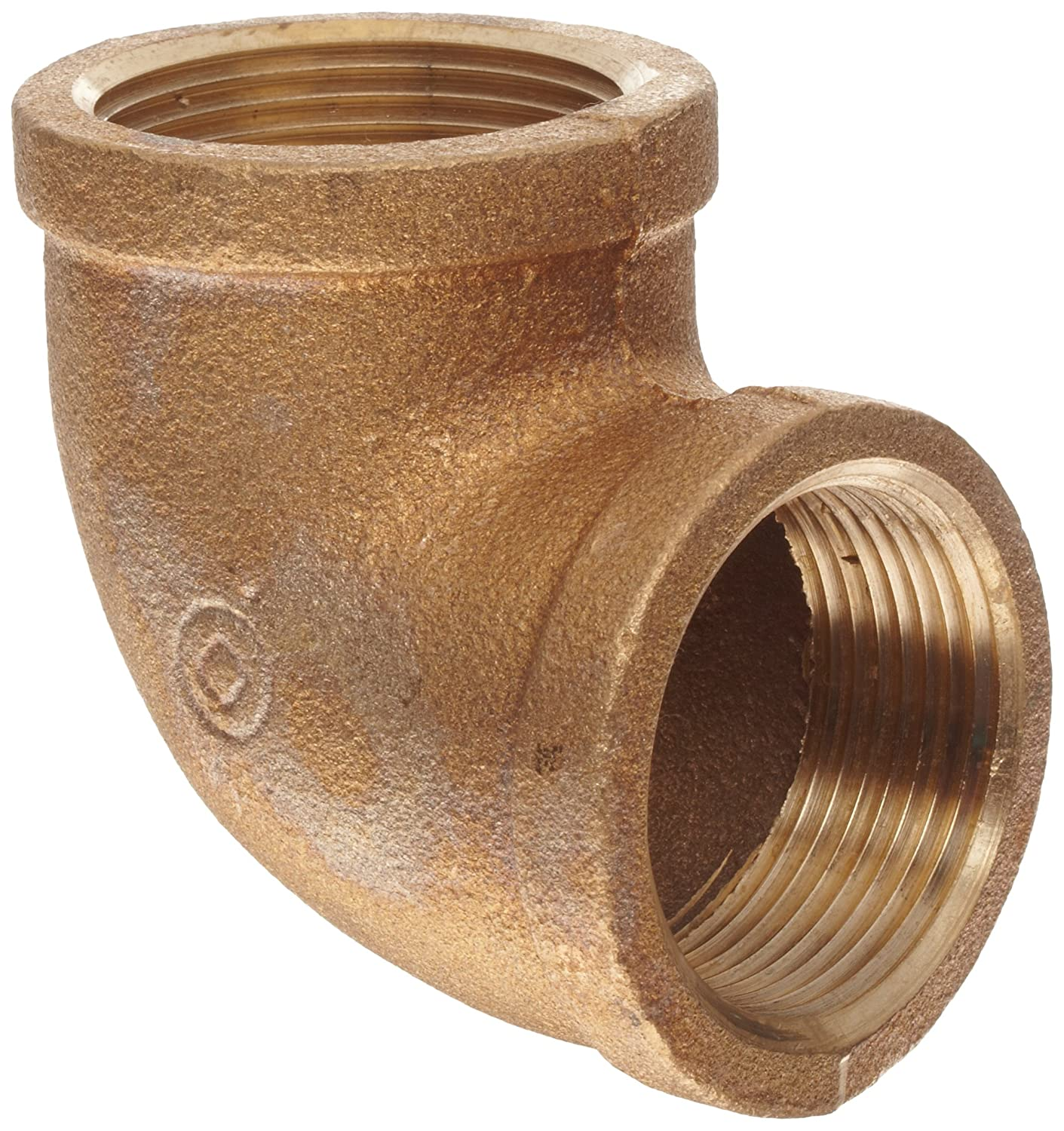 """Anderson Metals Brass Pipe Fitting, 90 Degree Elbow, 1-1/4"""" Female"""