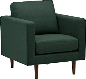 Amazon Brand – Rivet Revolve Modern Upholstered Armchair with Tapered Legs, 33
