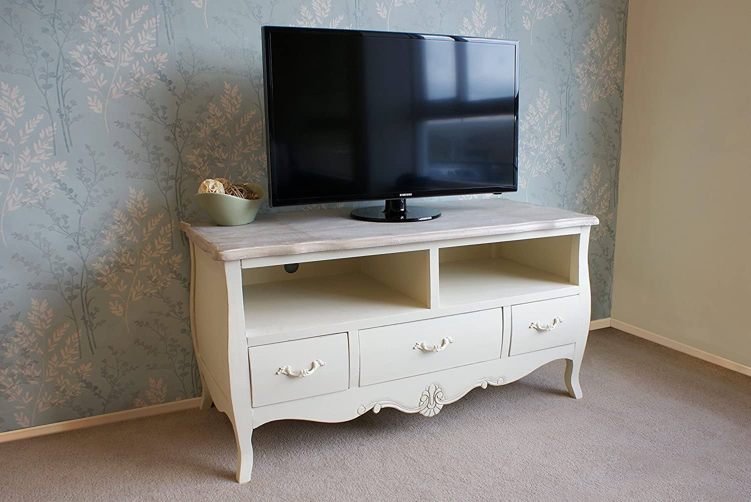 shabby chic tv stands elizabeth shabby chic tv stand. Black Bedroom Furniture Sets. Home Design Ideas
