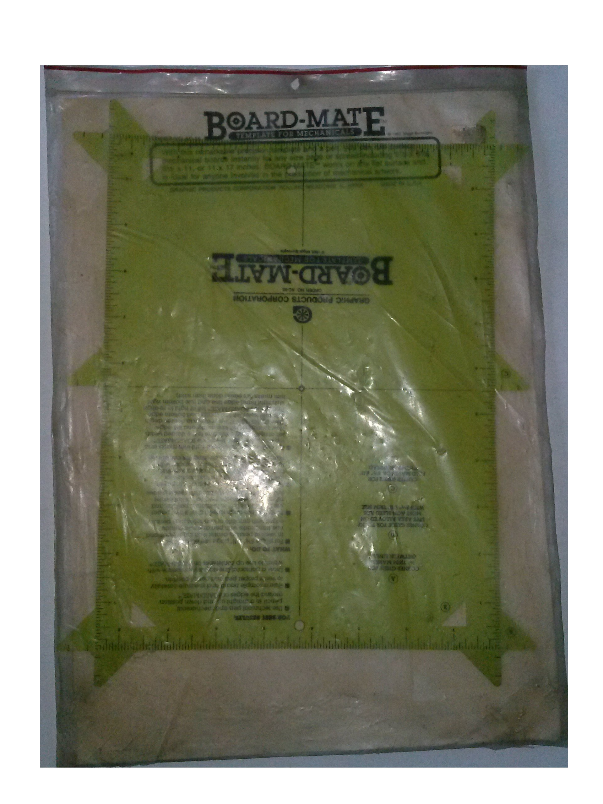 Graphics Product Corp. AC-65 Board-Mate Template for Mechanicals Made in USA by Graphics Product Corp (Image #1)