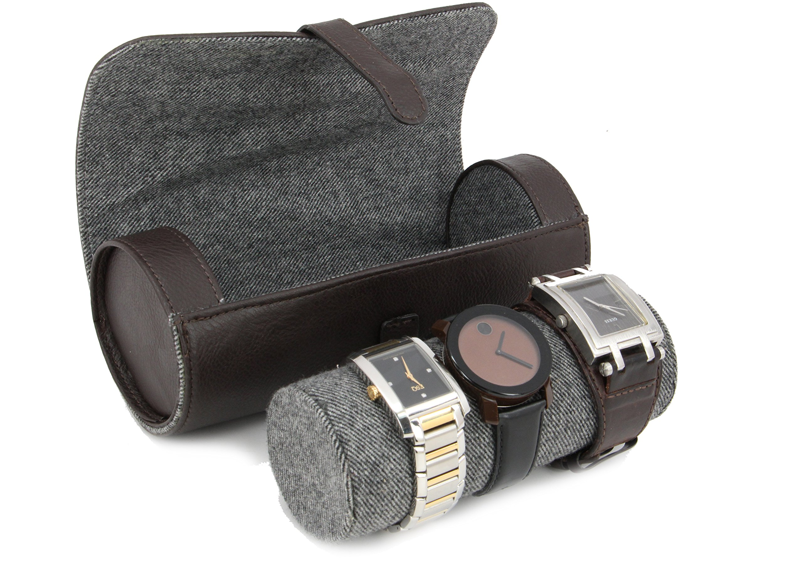 Executive High class Men's Watches and Bracelets Jewelry Box Gift (Buff)