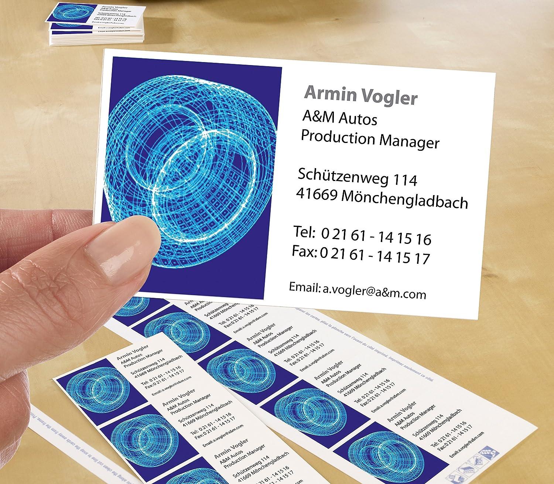 Avery Zweckform C32010-25 Classic Visitenkarten (250 Stück, 85 x 54 ...