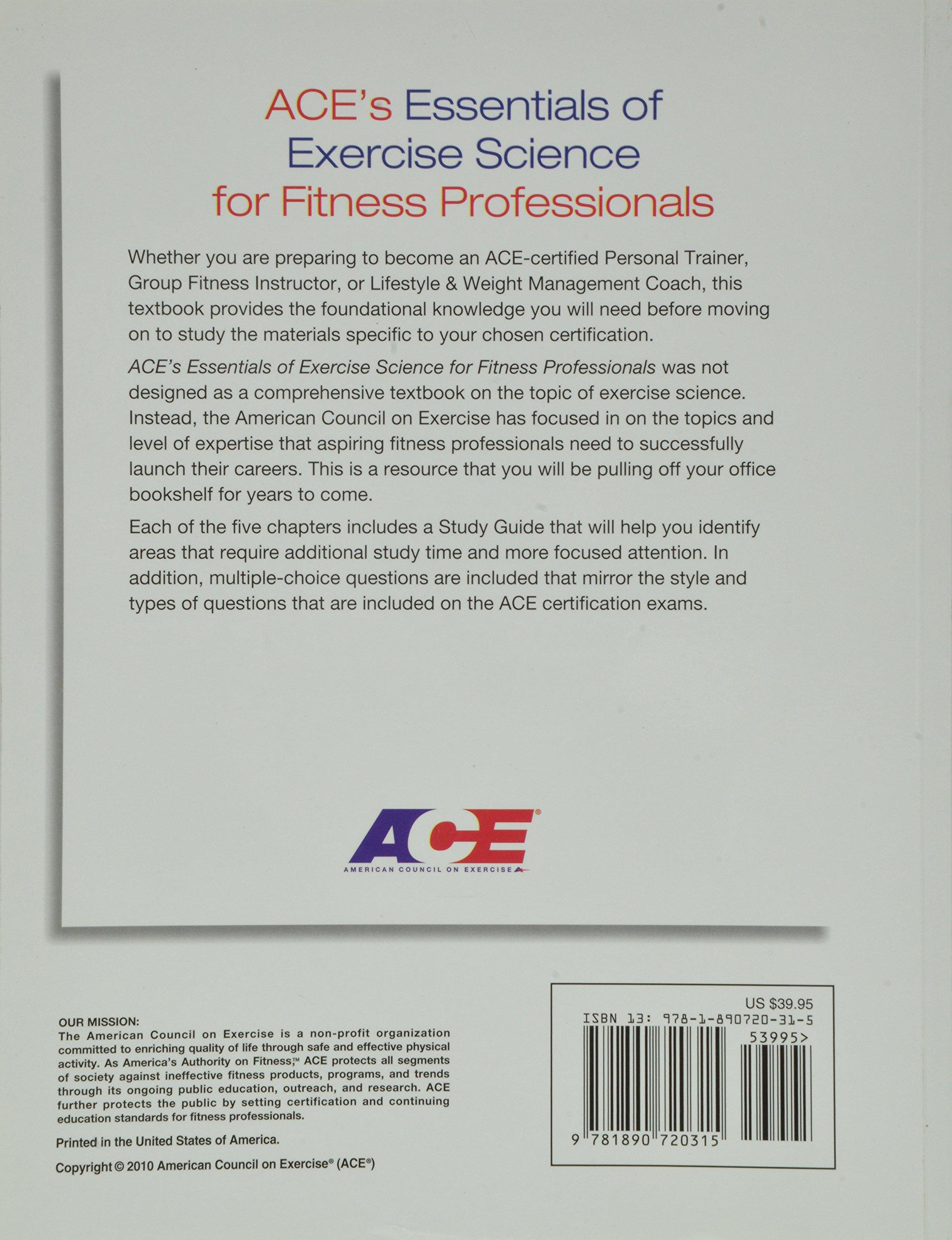 Essentials of Exercise Science: AM.COUNCIL EX.: 9781890720315: Amazon.com:  Books