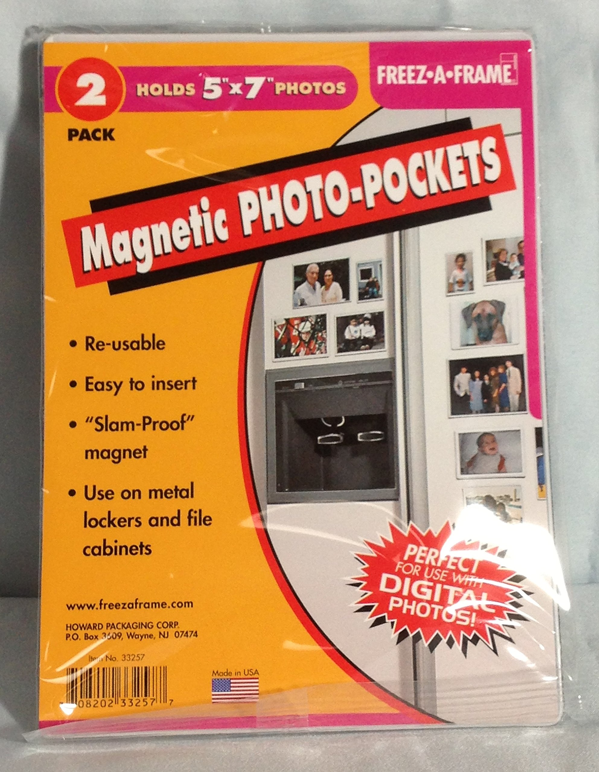 OKSLO Freez-A-Frame 33257 Magnetic 5 x 7 Photo Frame For Refrigerator 5 x 2 Pack - 10