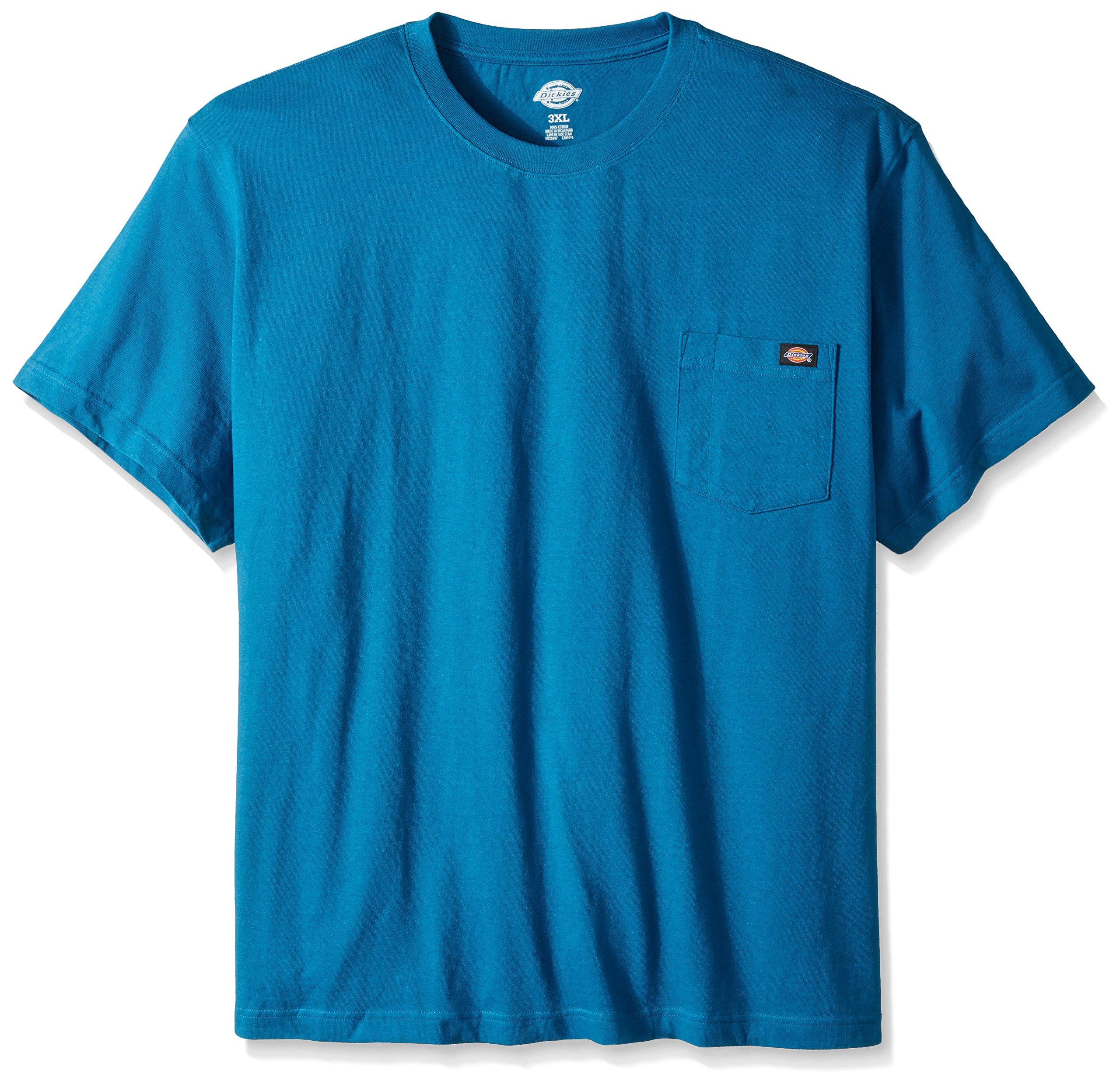 Dickies Men's Big and Tall Short Sleeve Heavyweight Crew Neck Pocket T-Shirt, Southern Fall, X-Large Tall
