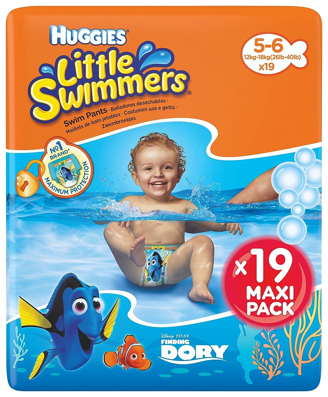 Huggies Little Swimmers Couches taille 5–6(12à18Kg), 1paquet de 19pièces Kimberly-Clark 5029053538433