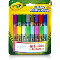 Crayola; Mini Washable Glitter Glue; Art Tools; 16 ct.; 16 Sparkly Colors; Great for Arts and Crafts, Great for sparkle slime