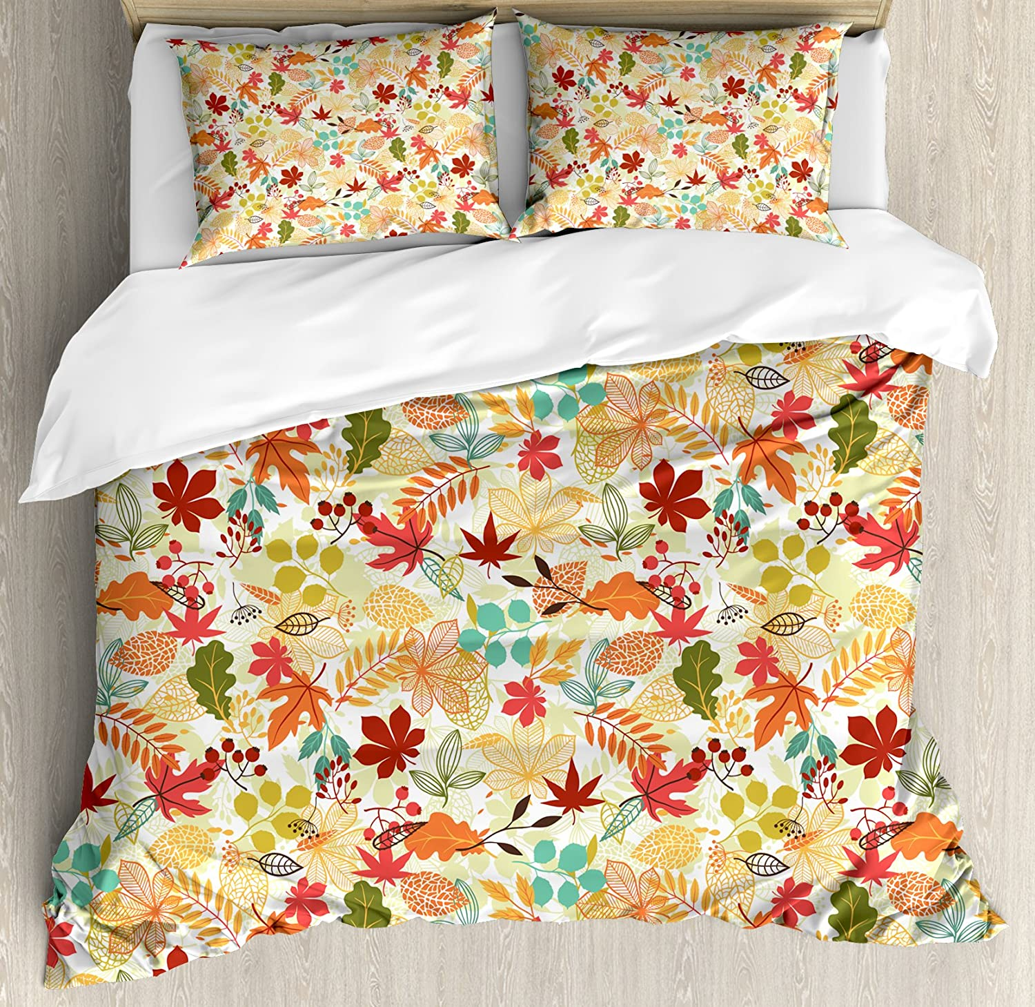 Lunarable Thanksgiving Duvet Cover Set Queen Size
