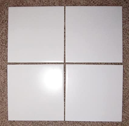 United States Ceramic Tile Company X Ceramic Wall Tile Square - 6x8 white wall tile