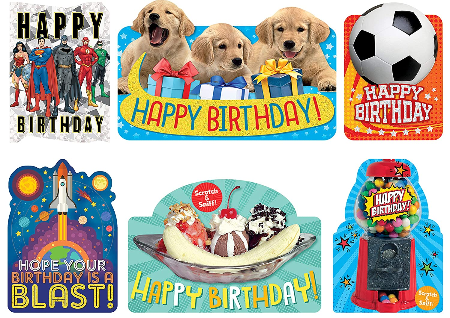 Playhouse Crazy Cool Birthday Card 6 Pack Includes Envelopes