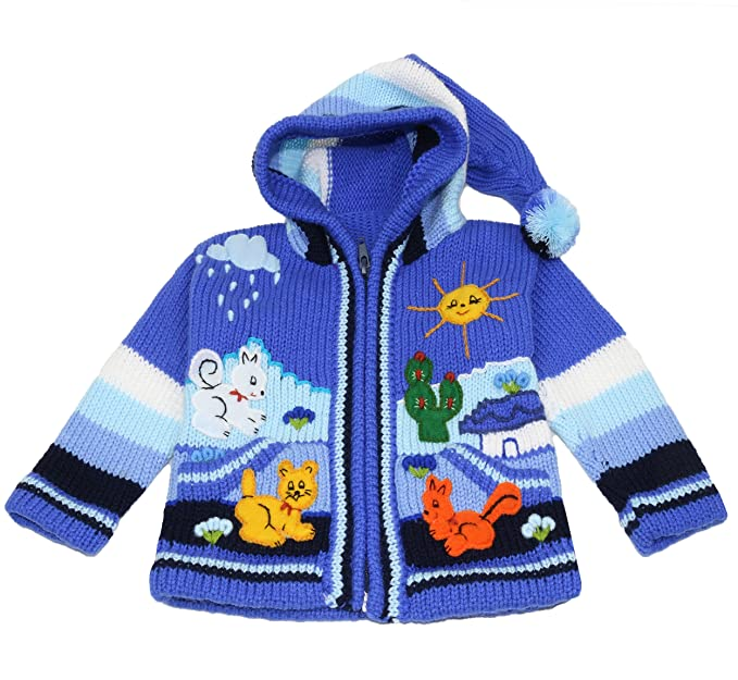 infashion24 – Chaqueta de punto de Perú para niño, lana y ...