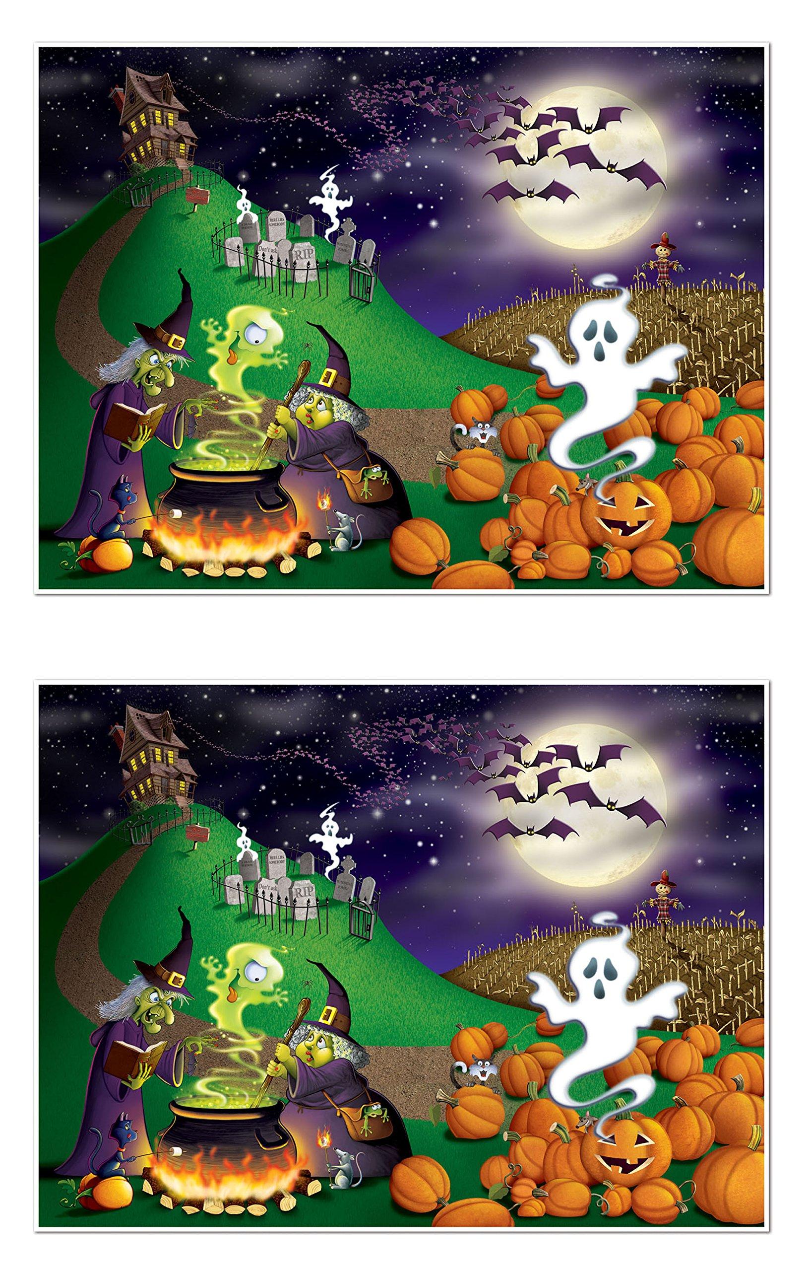 Beistle S00909AZ2 Halloween Insta-Mural 2 Piece, Multicolored by Beistle