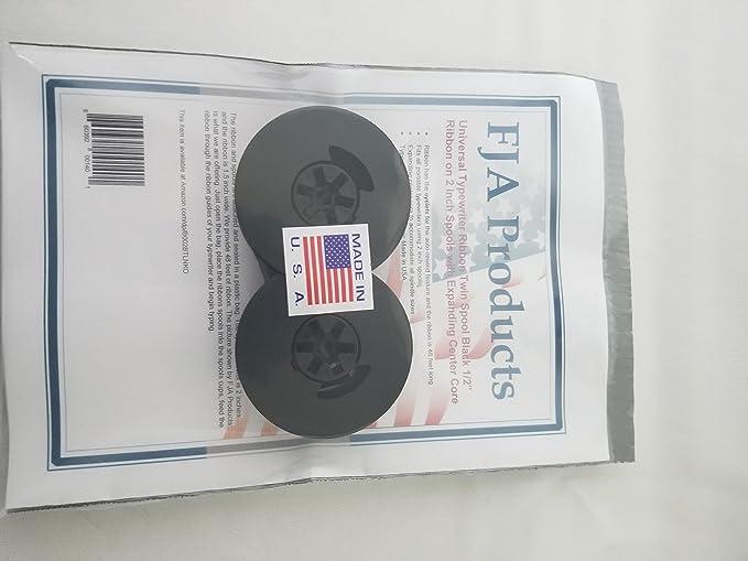 FJA Products Universal Typewriter Ribbon Twin Spool Black 1/2