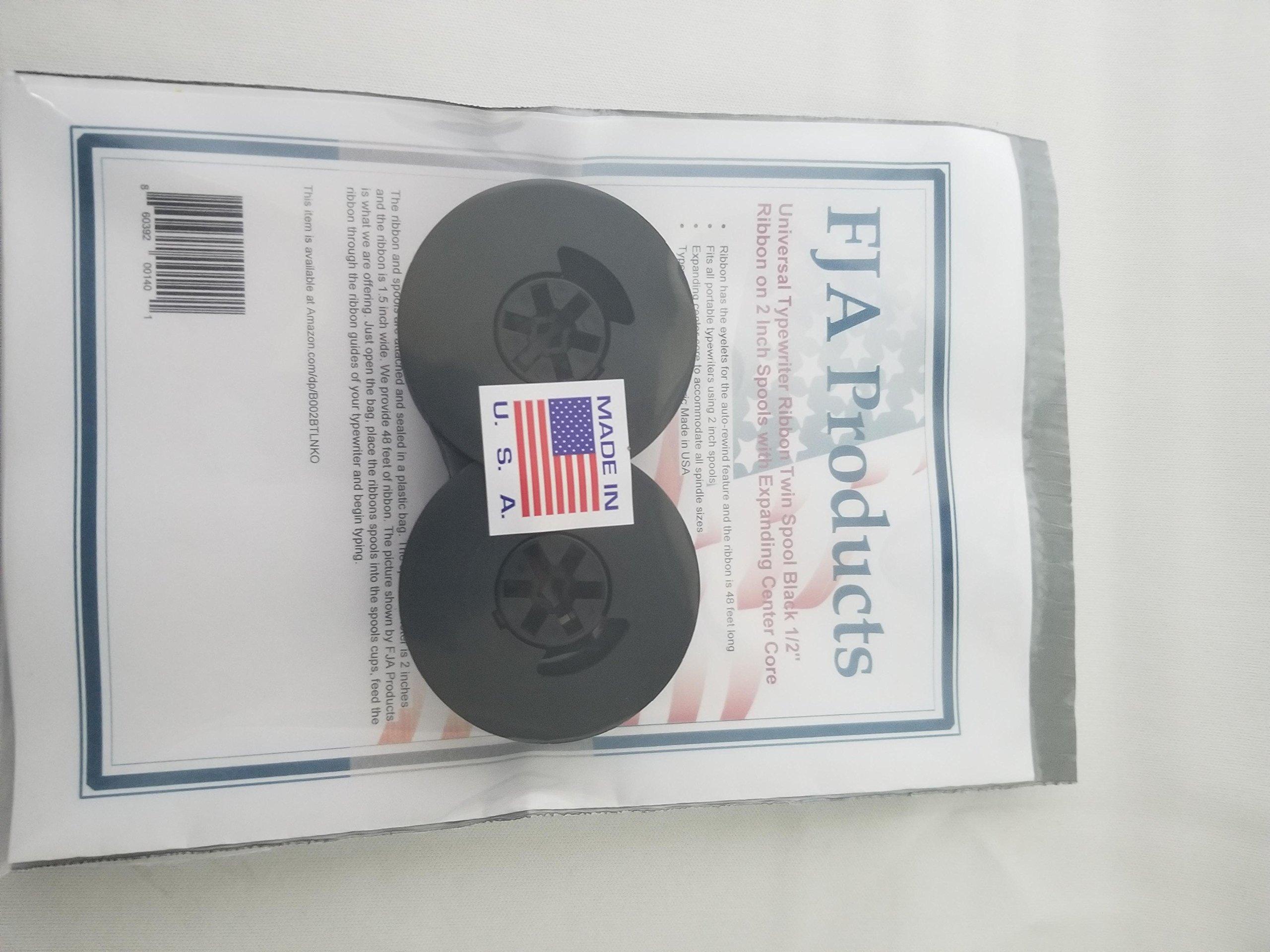 FJA Products Universal Typewriter Ribbon Twin Spool Black 1/2'' Ribbon