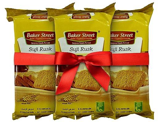 Baker Street Suji Rusk - Combo of 3 x 200 Gms
