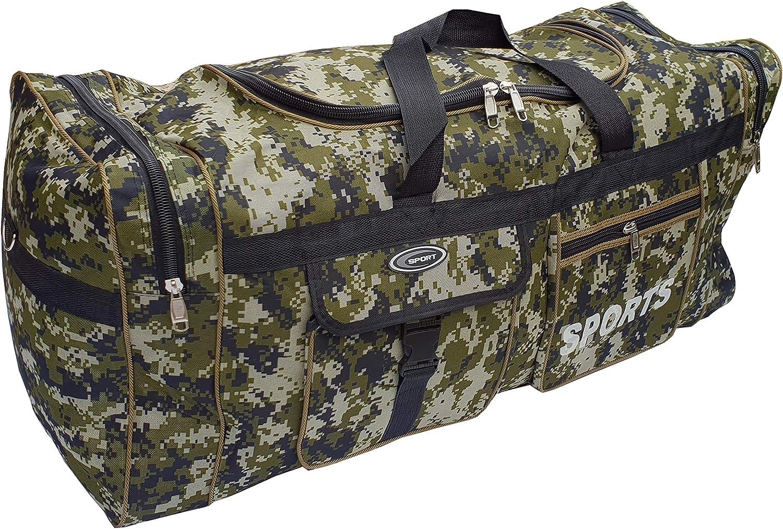 Bolsa de Deporte Grande XL de 110L Maleta para Deporte Gimnasio P.I.Sport N.Y almacenaje Viaje Impermeable. Camping