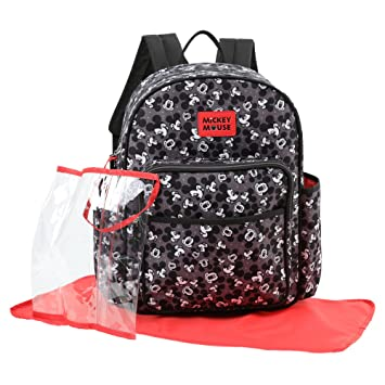Amazon.com   Disney Mickey Mouse Toss Head Print Backpack Diaper Bag ... 449d536a04408