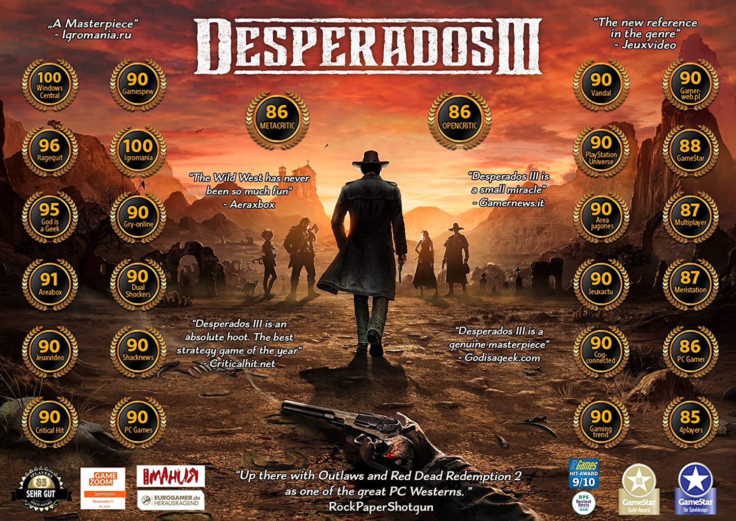 Amazon Com Desperados 3 Playstation 4 Thq Nordic Nordic Games Video Games