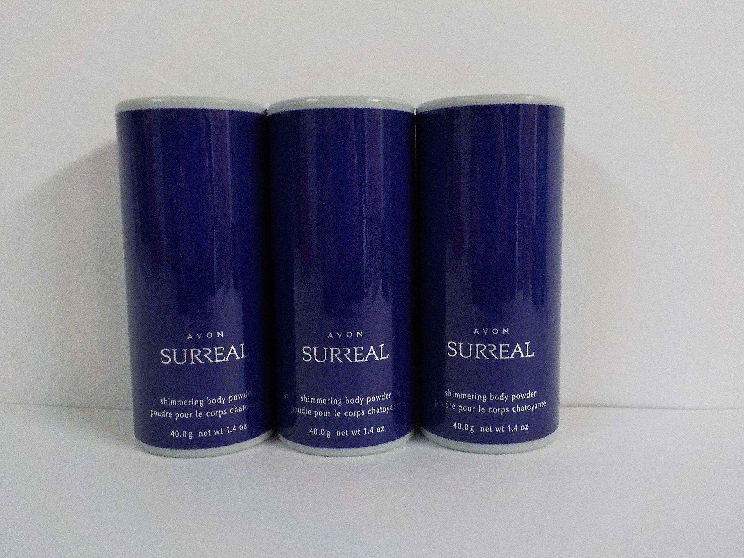 Avon Surreal Shimmering Body Powder 1.4 Oz. (Lot of 3)