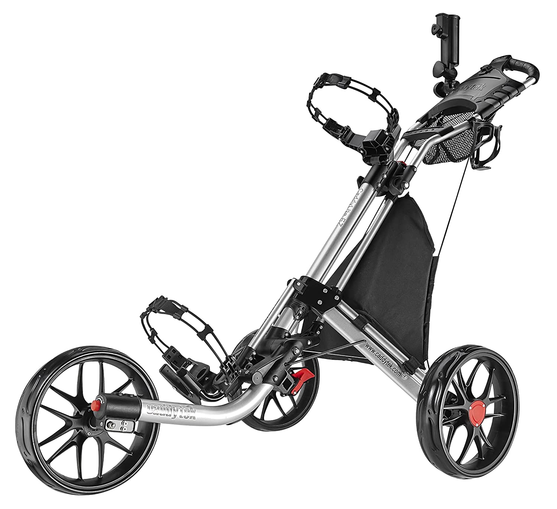 CaddyTek ez-fold 3ホイールゴルフプッシュカート  シルバー B00HK7CADG