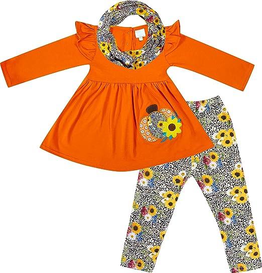Halloween Toddler Girl Outfits Pumpkin//Ghost Long Sleeve Ruffle Top Pants Set Halloween Clothes Set
