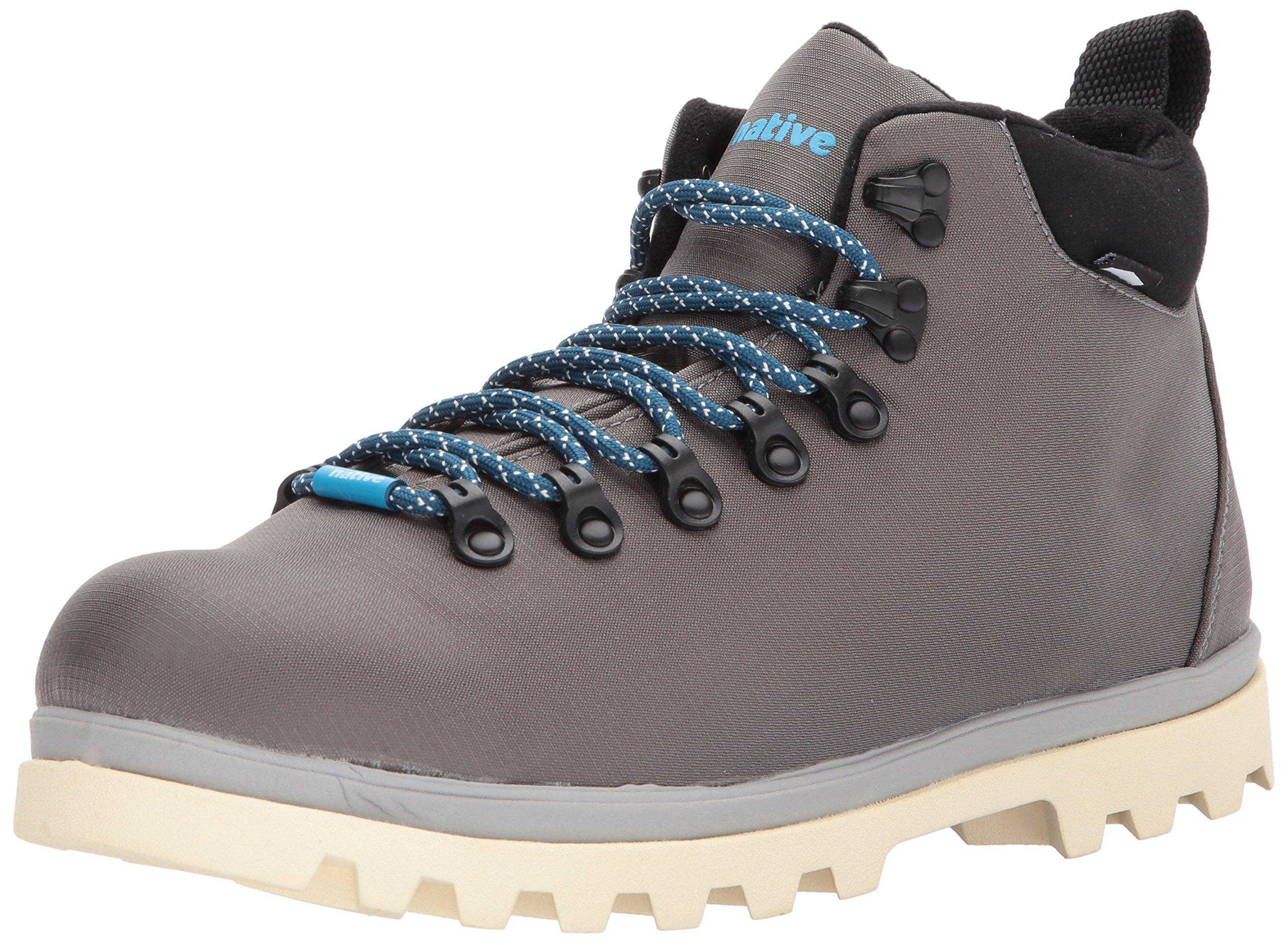 native Men's Fitzsimmons Treklite Rain Boot, Dublin Grey/Pigeon Grey/Bone White, 10 M US