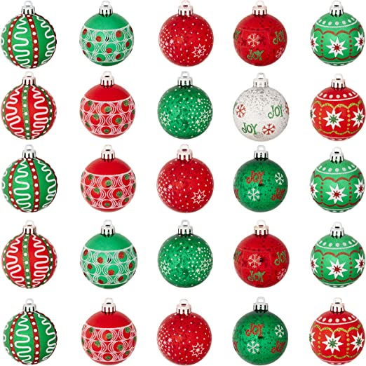 Choose Design Festive Shatterproof Christmas Tree Bauble Decorations