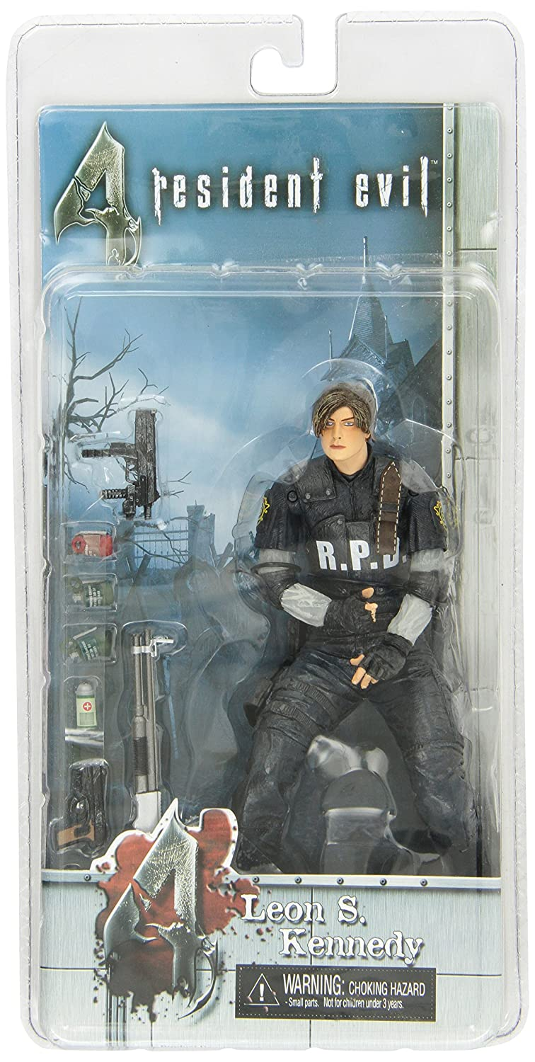 Amazon.com: NECA Resident Evil 4 SDCC Convention Exclusive Action Figure Leon S. Kennedy [RCPD]: Toys & Games