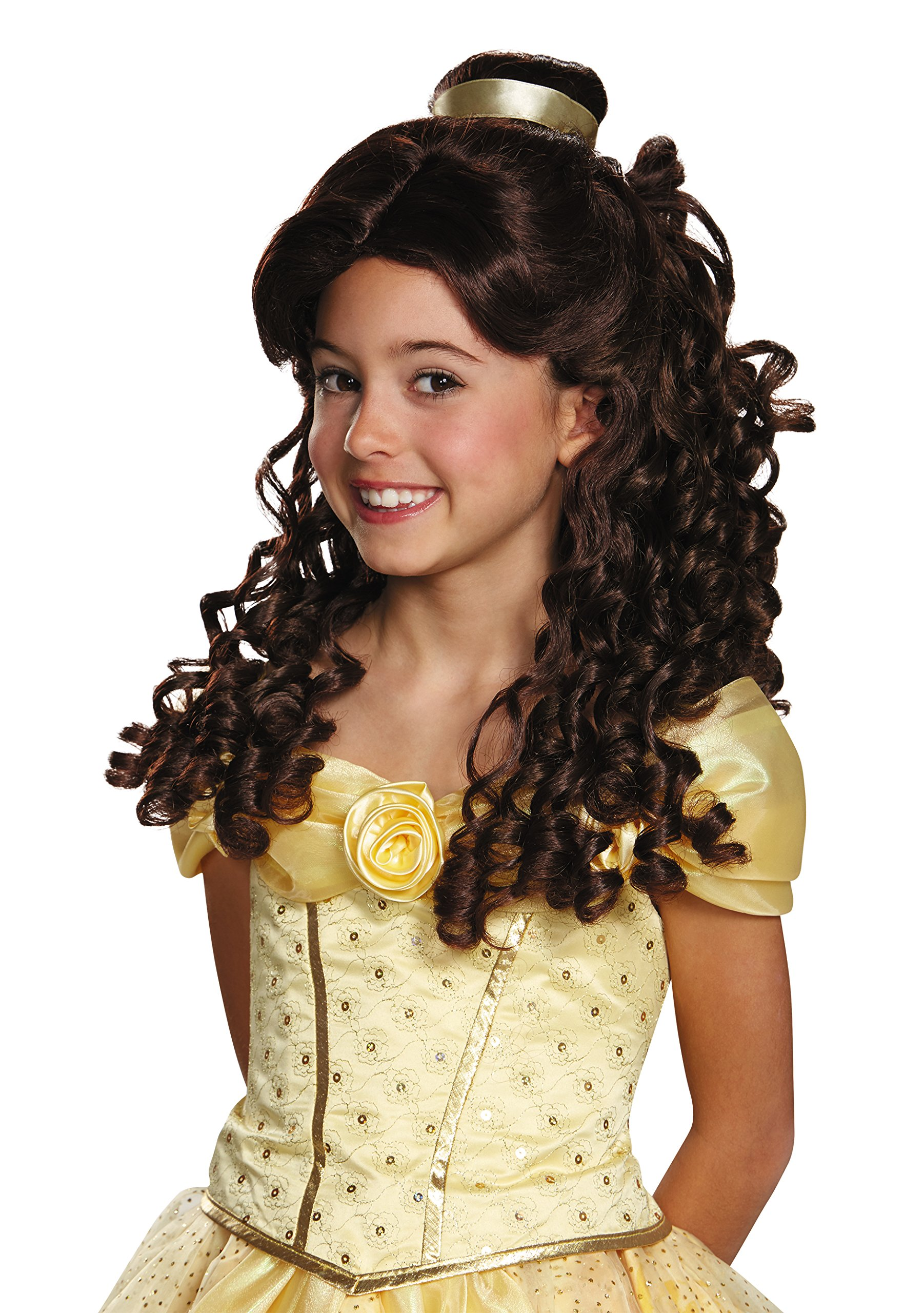 Belle Ultra Prestige Child Disney Princess Beauty & The Beast Wig, One Size Child