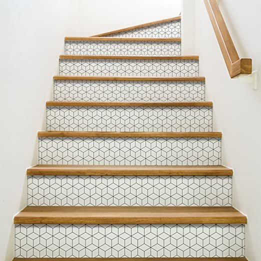 Playa Adhesivos para contremarches de escaleras, Vinilo, Gris, 100 x 0,1 x 19 cm: Amazon.es: Hogar