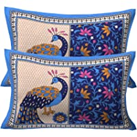 RajasthaniKart ® 100% Cotton Pillow Cover (Set of 2) Multicolor
