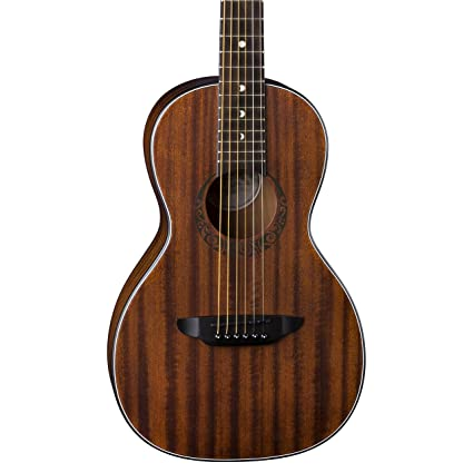 68f54c98320 Amazon.com: Luna Gypsy Muse Parlor Acoustic Guitar, Mahogany: Musical  Instruments
