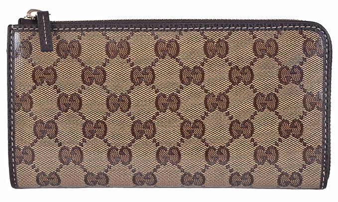 Gucci mujer Crystal Lienzo GG Guccissima 3/4 Zip Alrededor de Cartera: Amazon.es: Ropa y accesorios