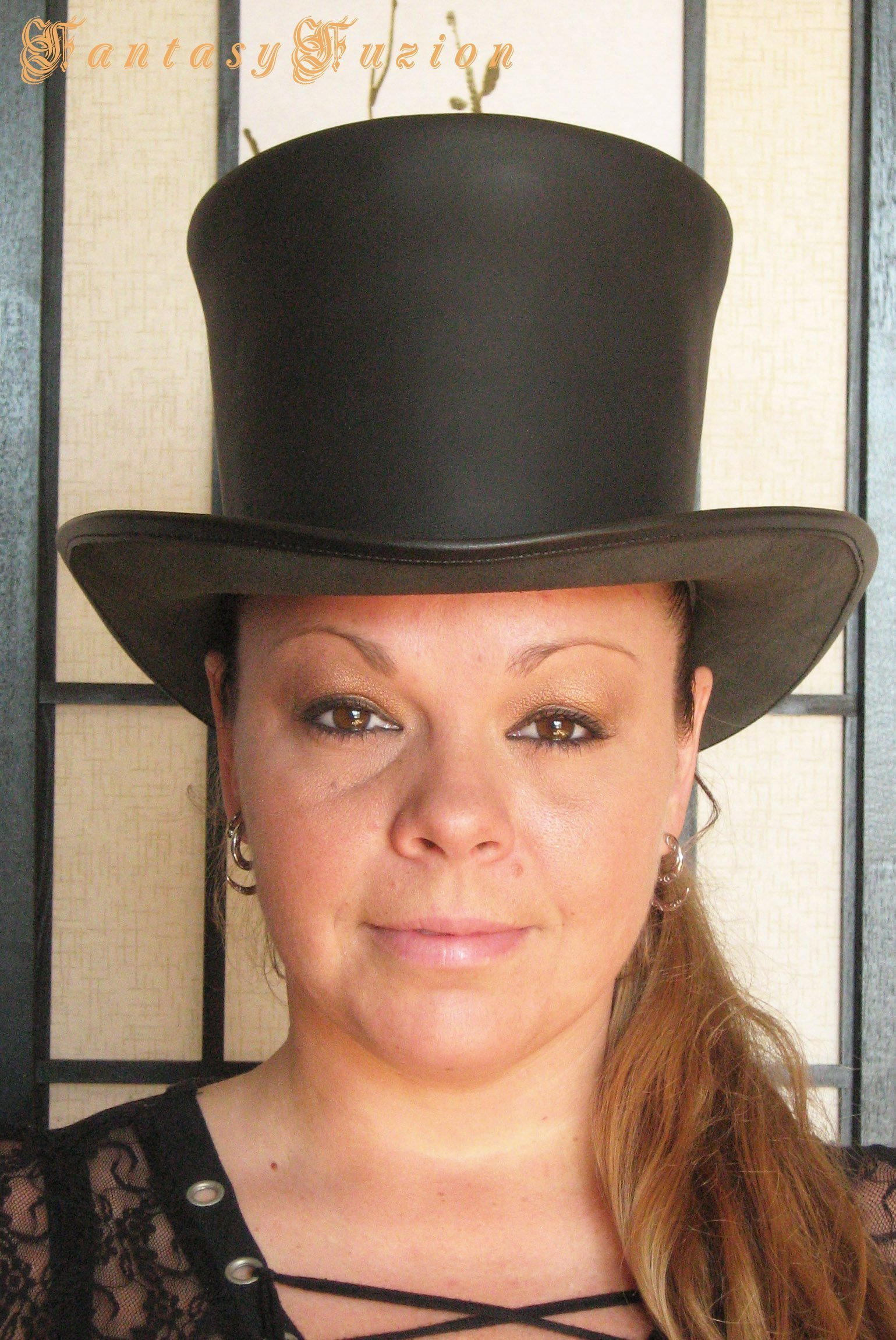 Leather Hat Steampunk Victorian Standard HIGH Top Hat