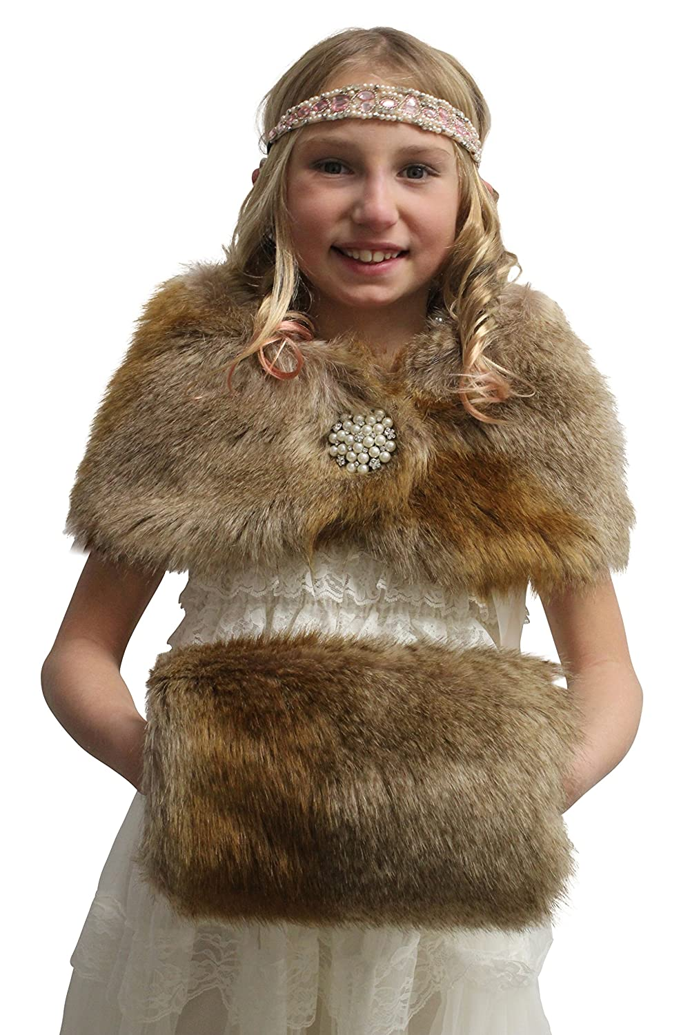 Vintage Style Children's Clothing: Girls, Boys, Baby, Toddler Bridal Faux fur muff Girls Faux Fur Hand Muffs $11.99 AT vintagedancer.com