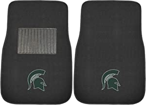 FANMATS 17603 Michigan State 2-Piece Embroidered Car Mat