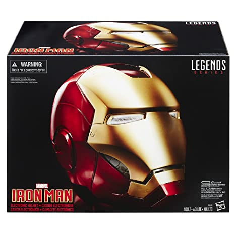 3c6fb0ff141 Amazon.com: Marvel Legends Iron Man Electronic Helmet (Amazon Exclusive):  Toys & Games