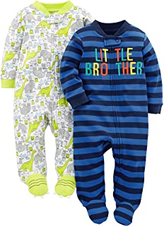 Simple Joys by Carter s Baby Boys  2-Pack Cotton Footed Sleep and Play c1562218c