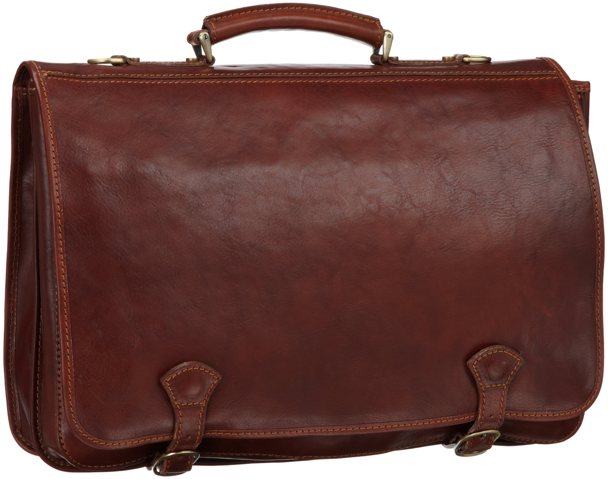 Floto Luggage Piazza Messenger Bag, Brown, One Size by Floto