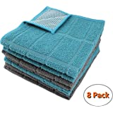Natta Microfiber Kitchen Dish Cloths for Washing Dishes with Poly Scour Side, Fast Dry no Odor wash Cloth with Scrubber…