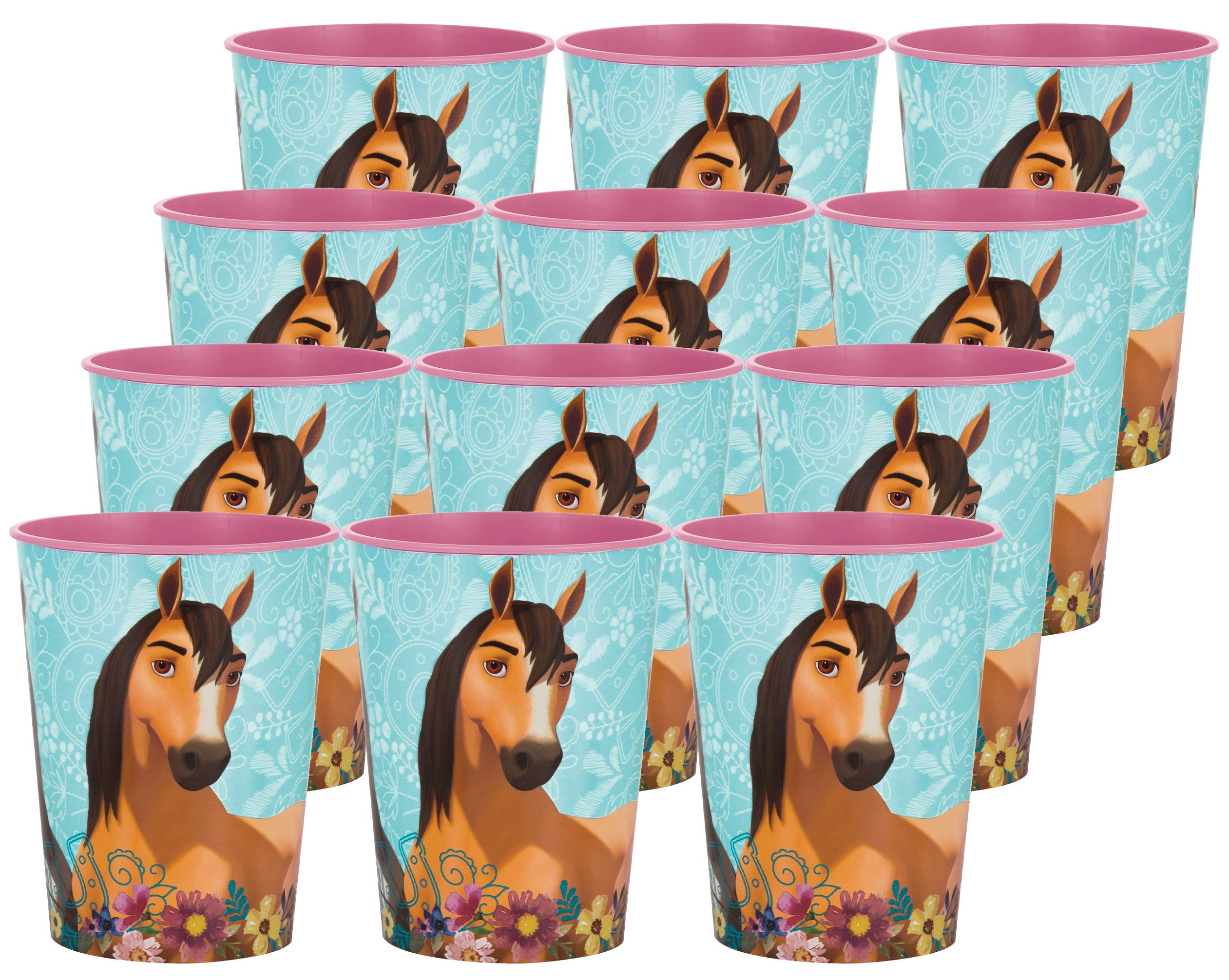 Spirit Riding Free Birthday Party Supplies Set of 12 16oz Plastic Reusable Favor Cups