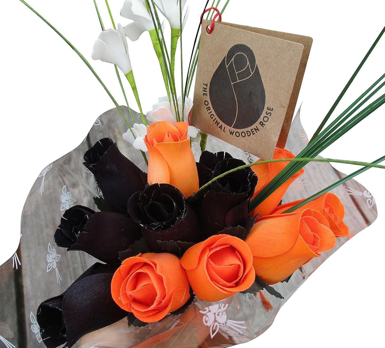 Amazon Halloween Black And Orange Flower Bouquet The Original