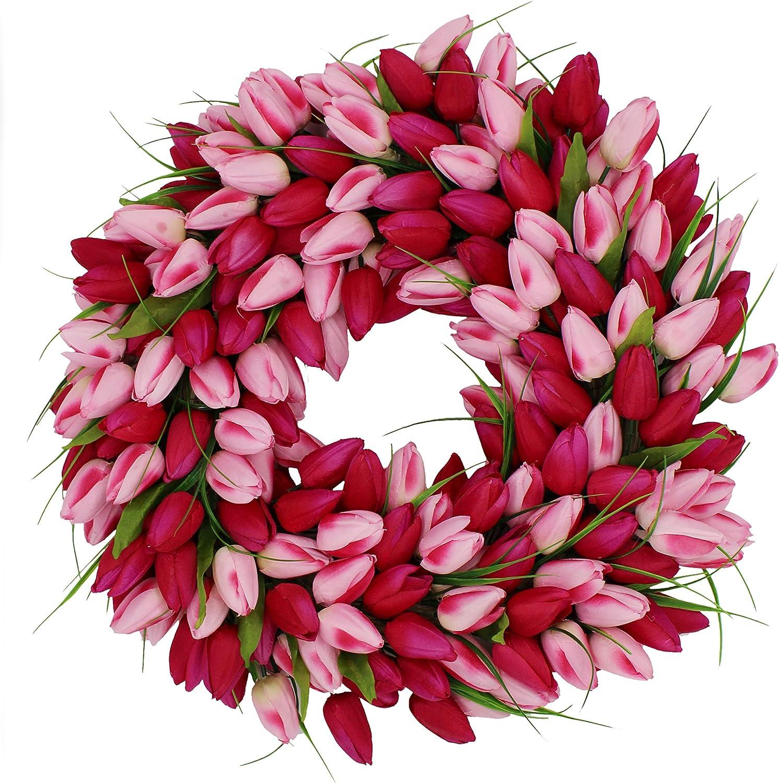 Pink Medley Tulip Wreath