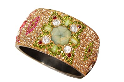 bangle gold with stone green plated pin bangles stones