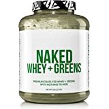 NAKED WHEY + GREENS - Grass Fed Whey Protein and Organic Super Greens - Non-GMO, Gluten-Free, Soy Free - No Artificial Flavors, Sweeteners, or Colors - 5LBS - 63 Servings