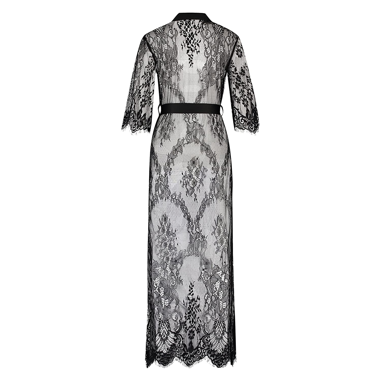 Hunkem/öller Damen Kimono Allover Lace lang