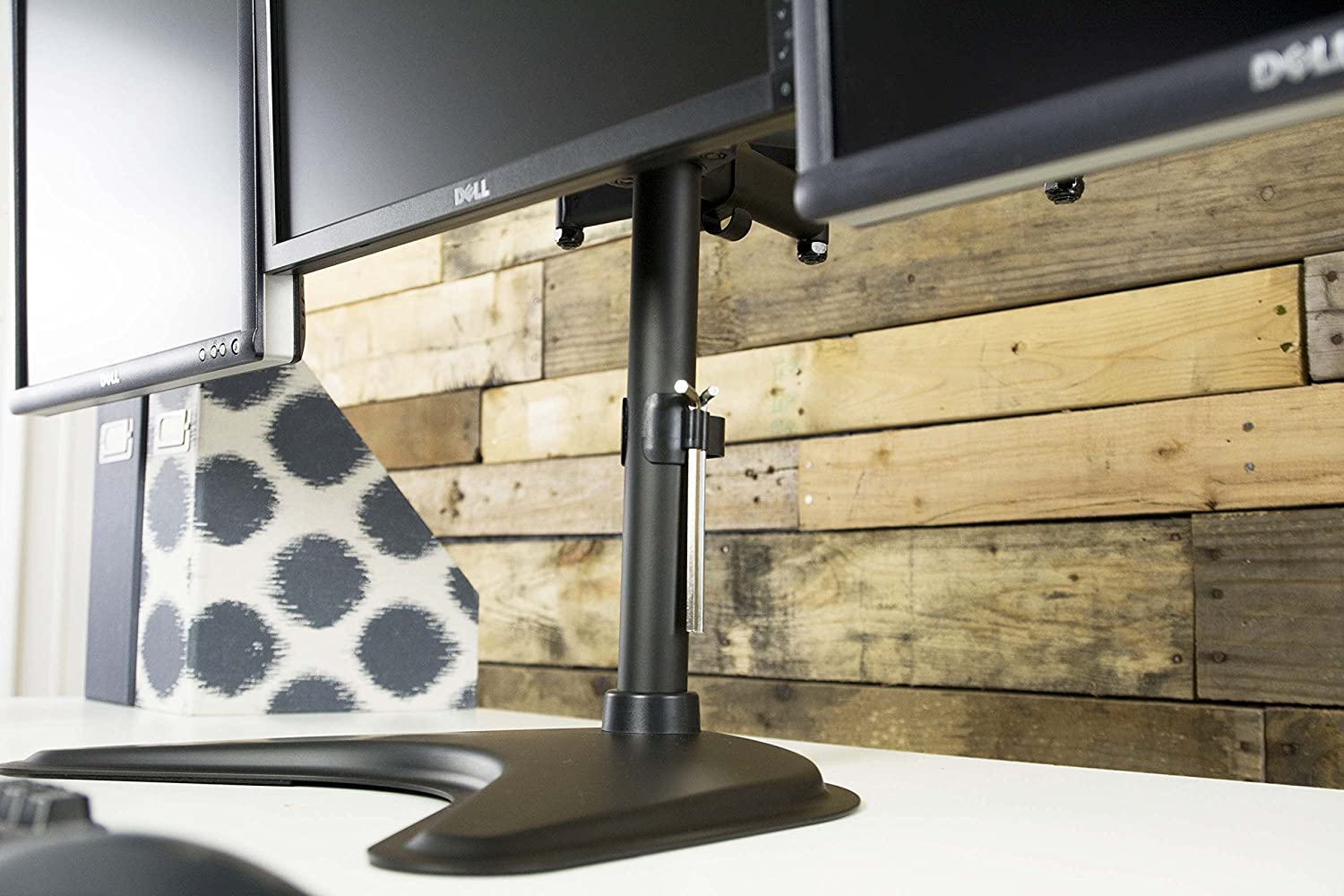 STAND-V003P VIVO Triple Monitor Mount Fully Adjustable Desk Free Stand for 3 LCD Screens Upto 24