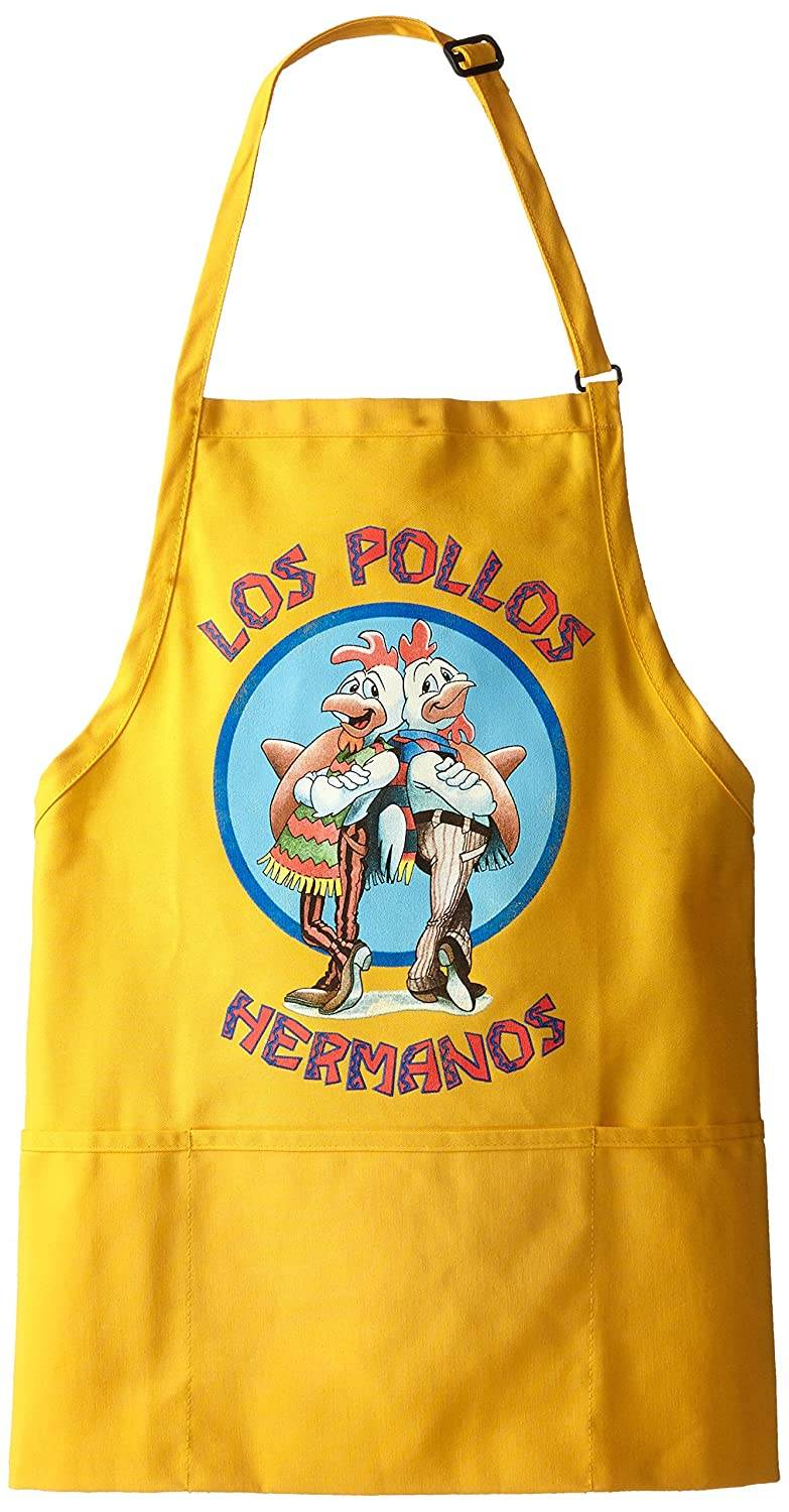 Breaking Bad Men's Los Pollos Hermanos Apron Yellow One Size Isaac Morris Ltd BR2M0049OL