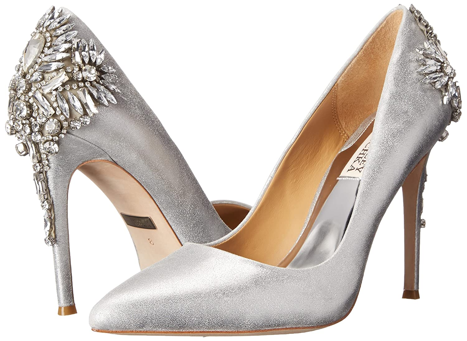 Amazon Badgley Mischka Women s Poetry Dress Pump Silver 8 5