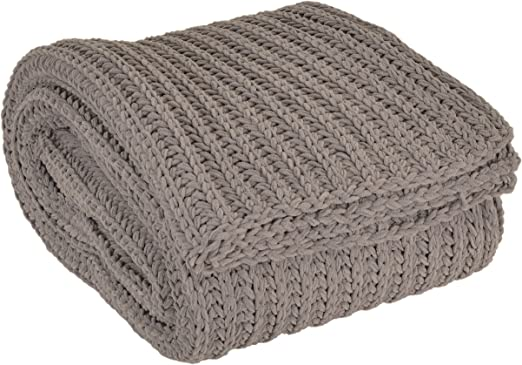 Thro by Marlo Lorenz Throw Blanket 50 x 60 inches Gray